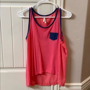 Color Story Sheer Tank Top Size L